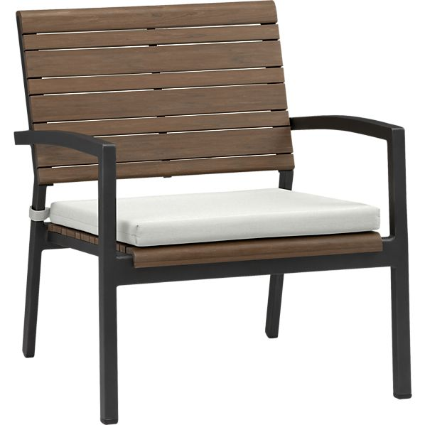 Rocha Lounge Chair with Sunbrella® White Sand Cushion