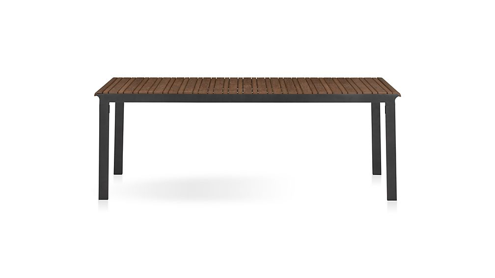 Rocha Rectangular Dining Table in Rocha Outdoor Dining : Crate and Barrel