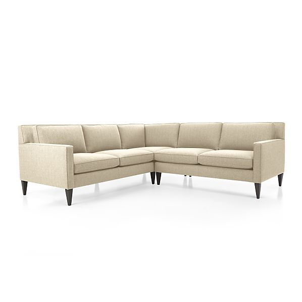 Rochelle 2 piece sectional sofa desert crate and barrel for Crate and barrel lounge 2 piece sectional sofa