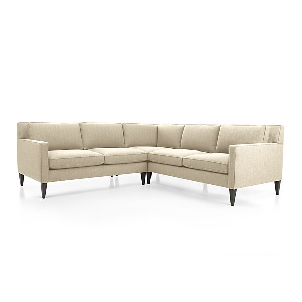 Rochelle 2 Piece Sectional Sofa Desert Crate And Barrel