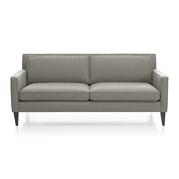 Rochelle Apartment Sofa Smoke Crate And Barrel