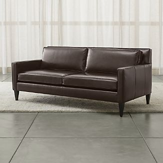 Rochelle Leather Apartment Sofa