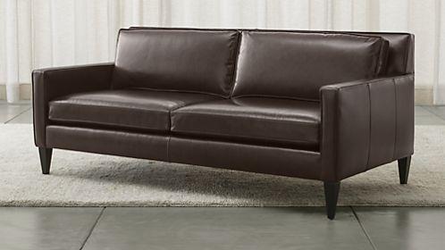 Rochelle Leather Apartment Sofa
