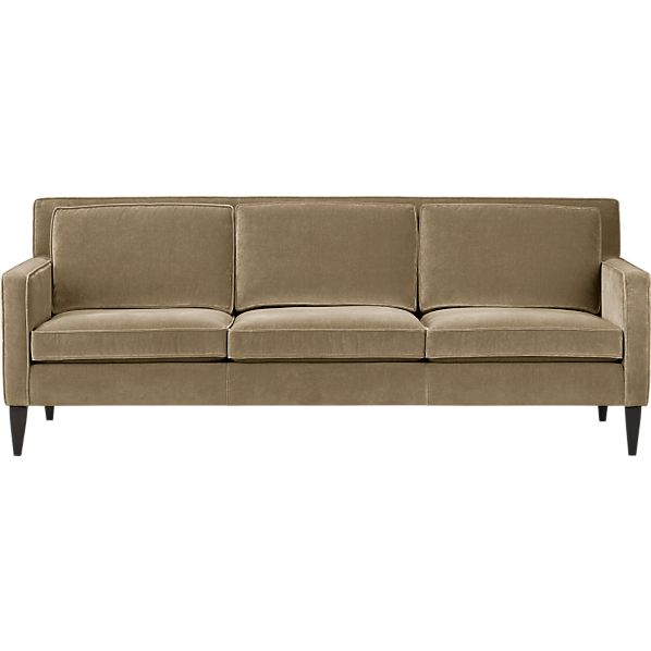 Rochelle sofa river crate and barrel for Crate and barrel sofa