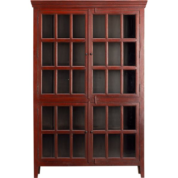 Rojo Red Tall Cabinet in Storage Cabinets | Crate and Barrel