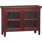 "Rojo Red 46"" Media-Storage Cabinet."