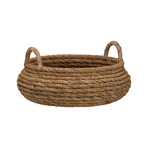 Roll Weave Low Basket