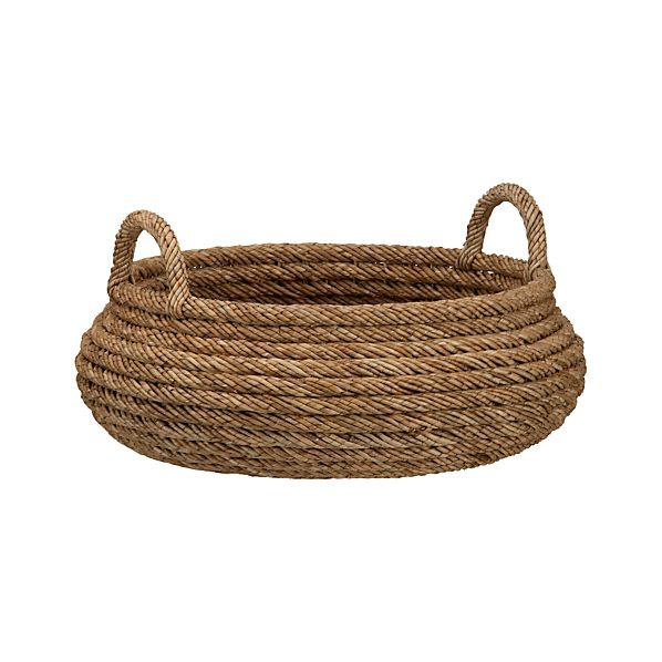 Roll Weave Low Basket