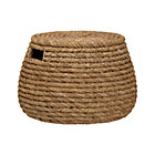 Roll Weave Storage Basket-Ottoman.