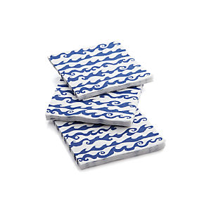 Rolling Waves Paper Beverage Napkins Set of 20