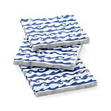 Set of 20 Rolling Waves Paper Lunch Napkins