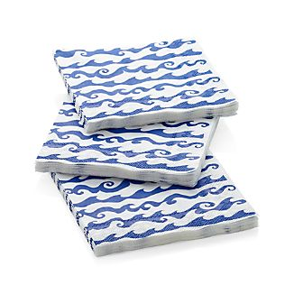 Rolling Waves Paper Lunch Napkins Set of 20
