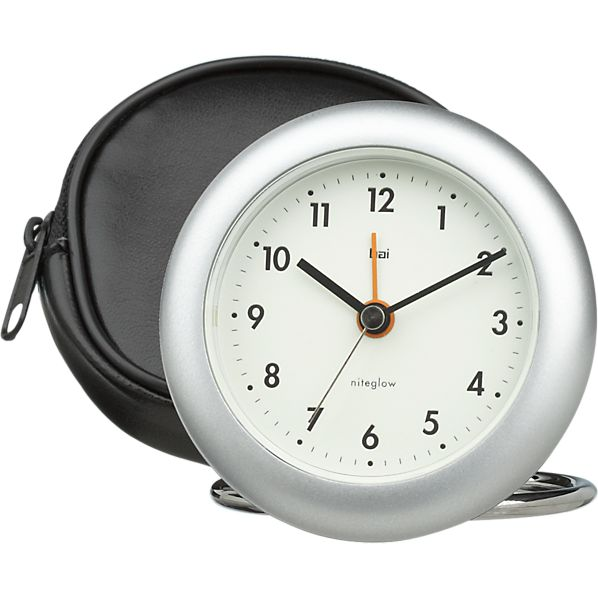 Rondo Silver Travel Alarm Clock