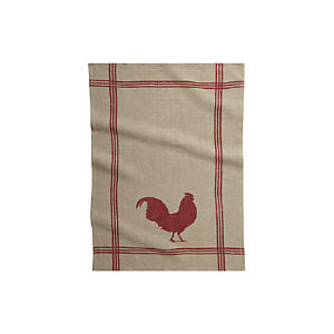 Rooster Linen Dish Towel