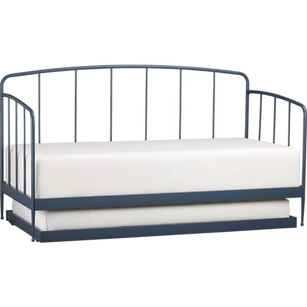 Rory Blue Daybed with Trundle