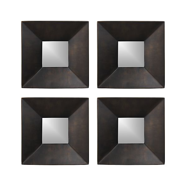 Set of 4 Rory II Square Wall Mirrors