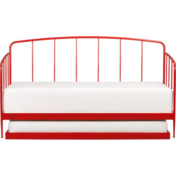 Rory Red Daybed with Trundle | Crate and Barrel