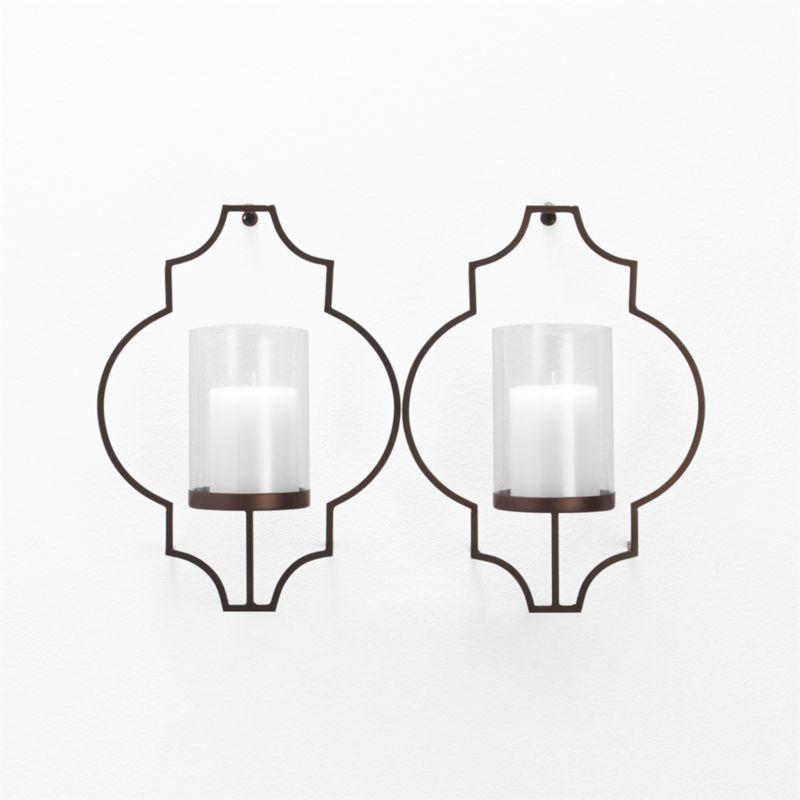 Set Of 2 Rosaline Wall Candle Holders Crate And Barrel