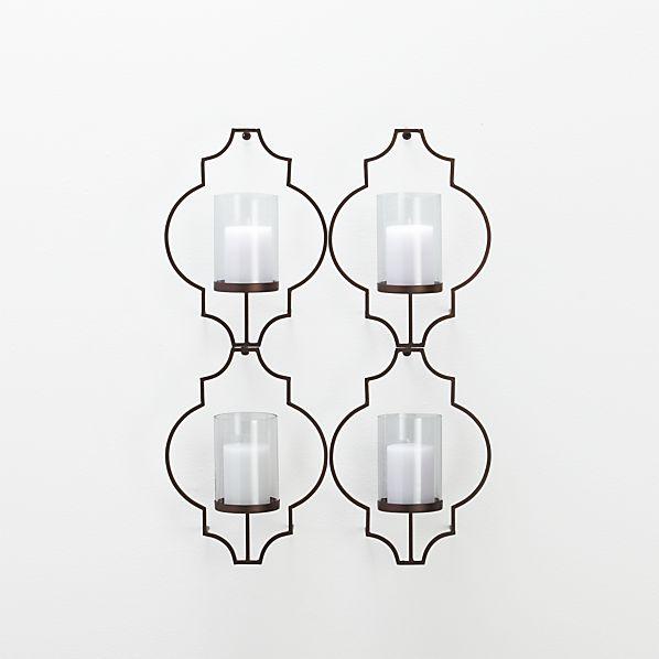 Set of 4 Rosaline Wall Candleholders