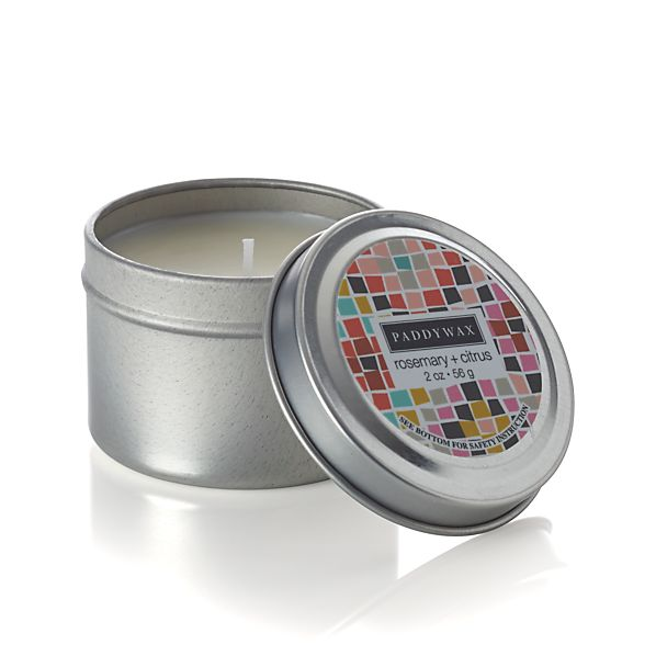 Rosemary and Citrus-Scented Travel Candle
