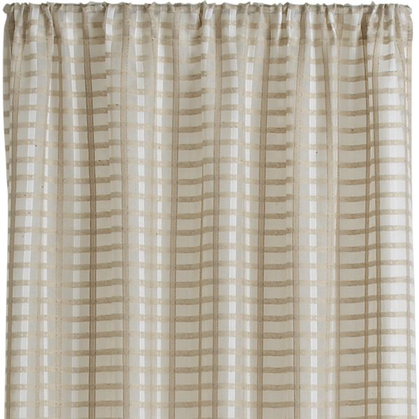 ross natural sheer 54 x84 curtain panel crate and barrel. Black Bedroom Furniture Sets. Home Design Ideas