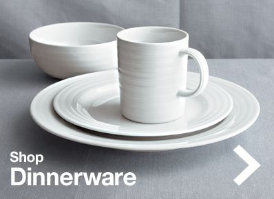 Roulette White Dinnerware