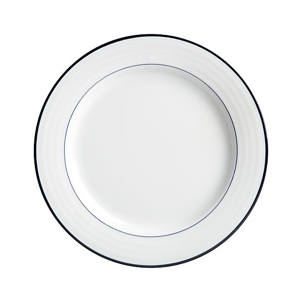 Roulette Blue Band Dinner Plate