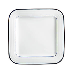 Roulette Blue Band 10.25 Square Dinner Plate
