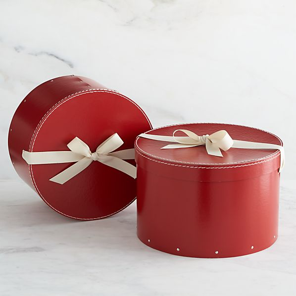 Set of 2 Bigso® Red Round Boxes