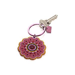 Round Flower Keychain