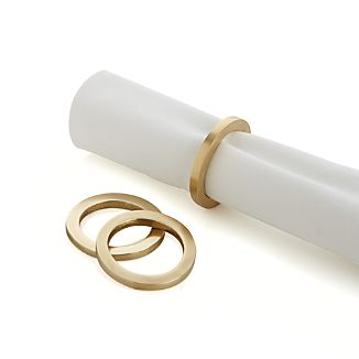 Zoe Round Gold Napkin Ring