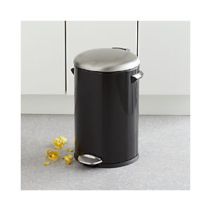 Round Black 3-Gallon Step Can