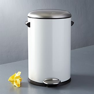 Round White 3-Gallon Step Can
