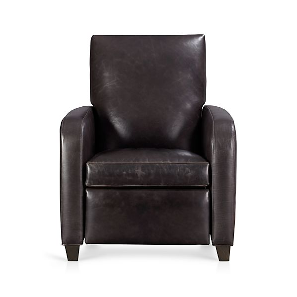 Royce Leather Recliner Crate And Barrel