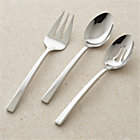 Royce 3-Piece Serving Set: serving spoon, pierced serving spoon, serving fork.
