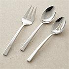 Royce 3-Piece Serving Set: serving spoon, pierced serving spoon, serving fork.