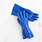 Medium Blue Rubber Gloves Pair.