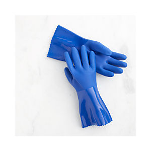 Medium Blue Rubber Gloves Pair