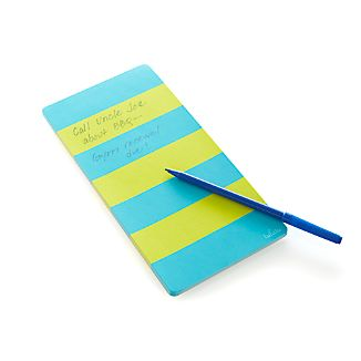 Rugby Stripe Turquoise Notepad
