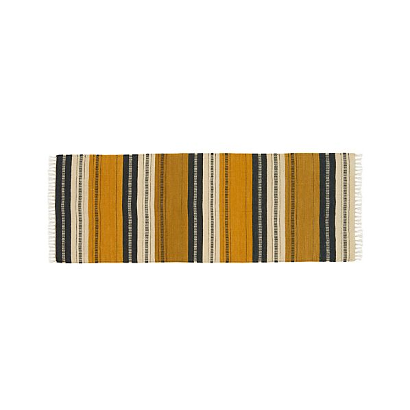 Russell Striped Wool-Blend 2.5'x7' Rug Runner