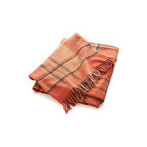 Rust Plaid Throw