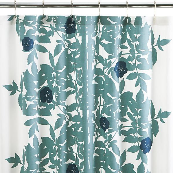 marimekko ruusupuu shower curtain crate and barrel. Black Bedroom Furniture Sets. Home Design Ideas