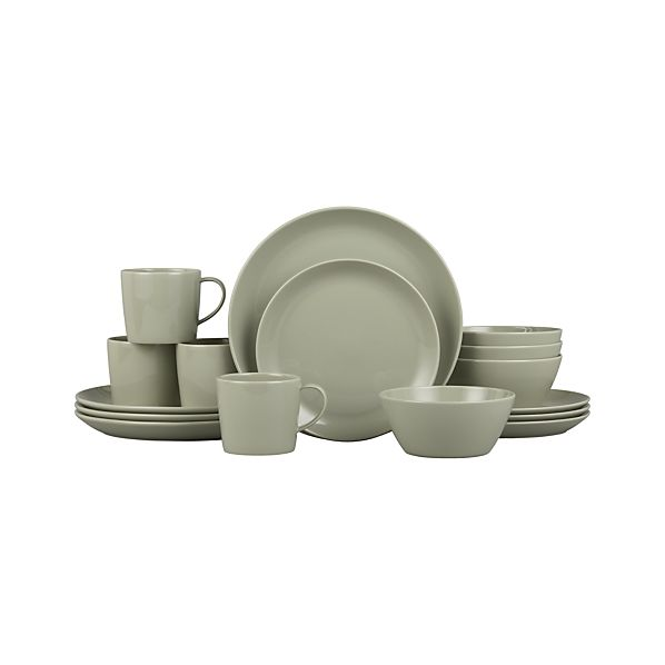 Rylan Sage 16-Piece Dinnerware Set