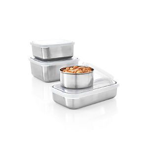 Konserve Stainless Steel Containers with Clear Lid