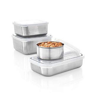 U Konserve® Stainless Steel Containers with Clear Lid