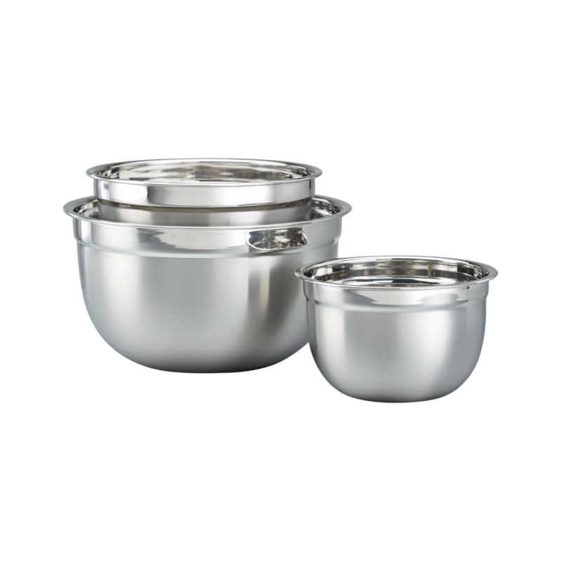 3-Piece Stainless Steel Nesting Mixing Bowl Set
