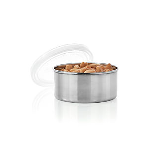 Konserve Round Stainless-Steel Container with Clear Lid