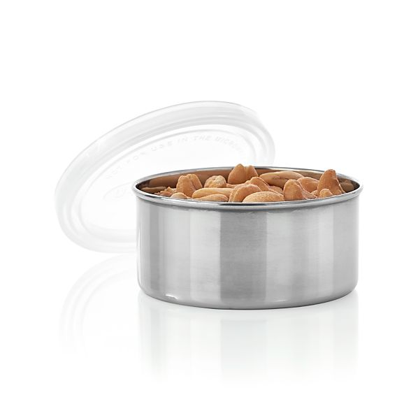 U Konserve ® Round Stainless-Steel Container with Clear Lid