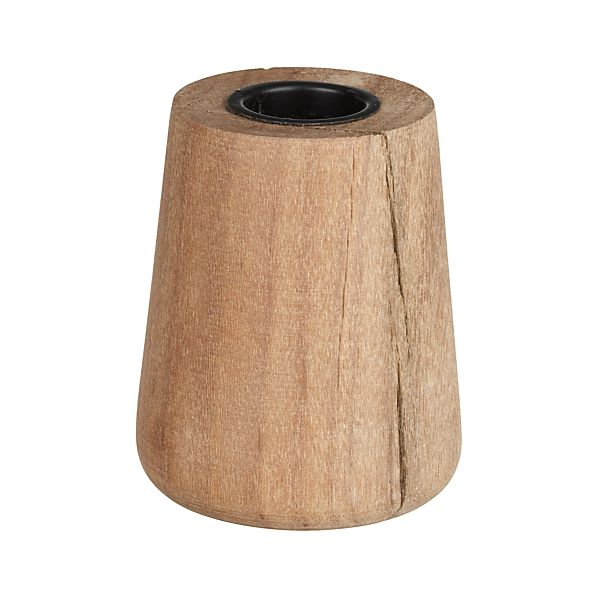 Saal Wood Taper Candle Holder Crate And Barrel