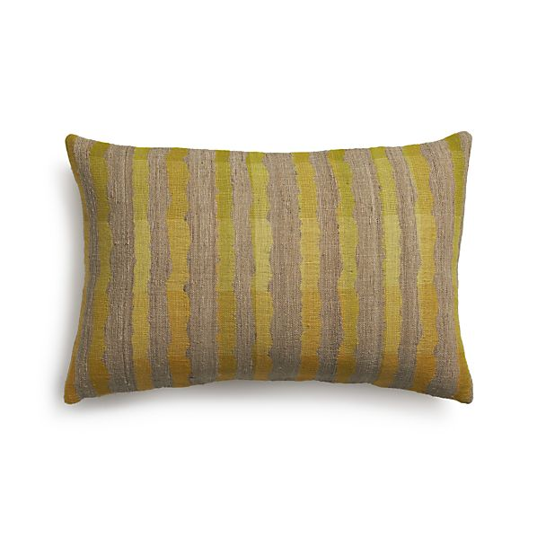 "Saffron Stripe 24""x16"" Pillow"